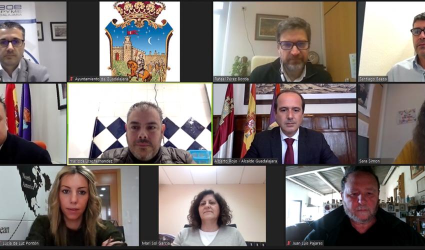 El Ayuntamiento se reúne con CEOE-CEPYME Guadalajara y la Federación provincial de Turismo y Hostelería para trabajar en nuevas ayudas por la covid19