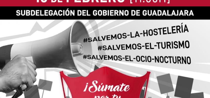 La Federación provincial de Turismo y Hostelería de Guadalajara se concentrará el próximo martes 16 de febrero ante la situación insostenible que atraviesa el sector con las continuas restricciones, limitaciones, cierres y falta de ayudas