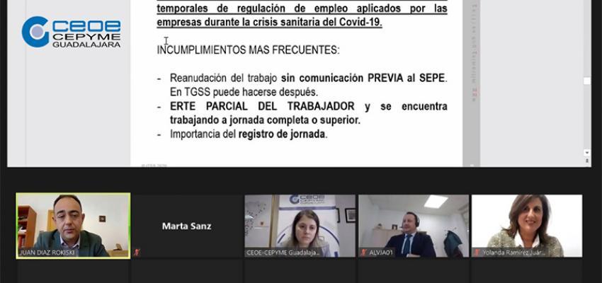 Éxito de participación en la jornada sobre novedades legislativas en materia laboral organizada por CEOE-CEPYME Guadalajara