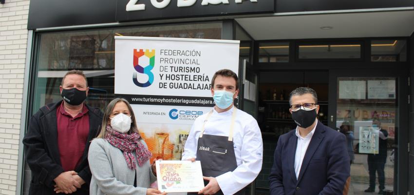 Entregados los premios del concurso de la ruta de la tapa provincial de la Federación provincial de Turismo y Hostelería de Guadalajara
