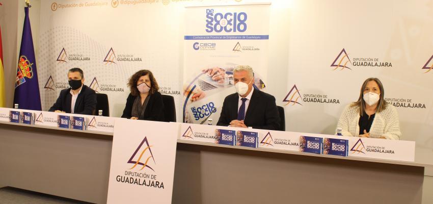 CEOE-CEPYME Guadalajara y Diputación provincial presentan la guía de empresas de Socio a Socio 2021
