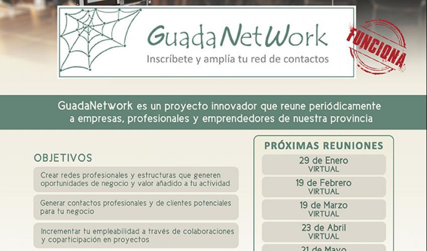 GuadaNetWork prepara  seis nuevos encuentros virtuales para el primer semestre de 2021, con el objetivo de seguir acercando empresas