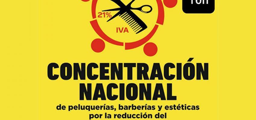 La Asociación provincial de Peluquerías y Centros de Estética de Guadalajara se volverá a concentrar para pedir la bajada del IVA al 10%