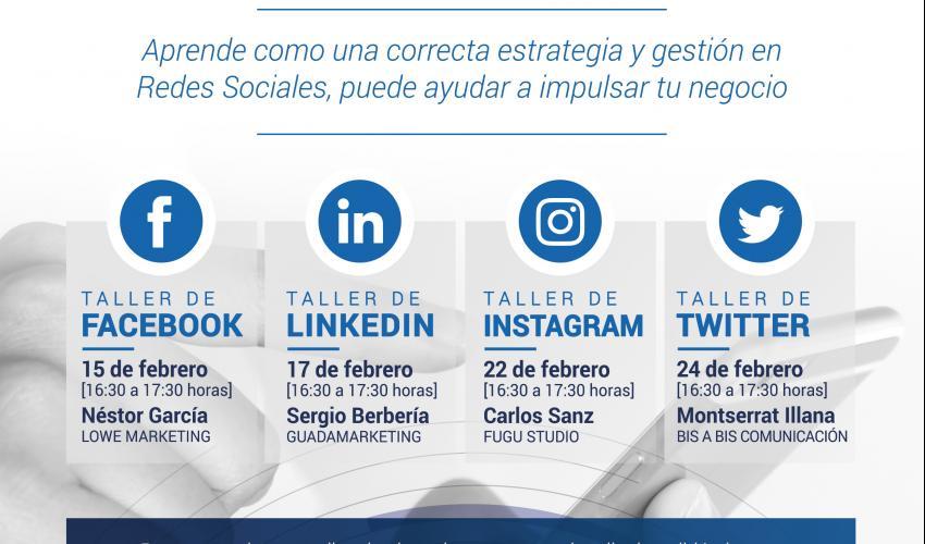 Programa CICLO GESTIÓN DE REDES SOCIALES PARA PYMES Y AUTÓNOMOS - CEOE Guadalajara - Febrero 2021