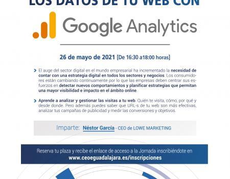 Webinar: Analiza y comprende todos los datos de tu web con Google Analytics