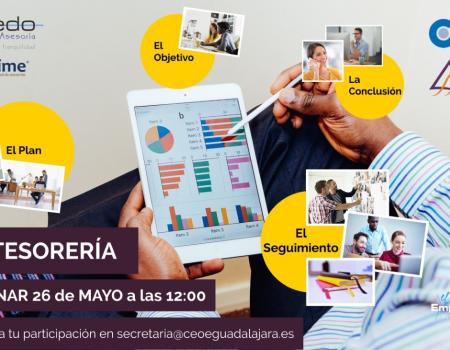 Invitación Webinar CEOE Guadalajara - Claves para la Gestión de Tesorería - 26.05.2020 -