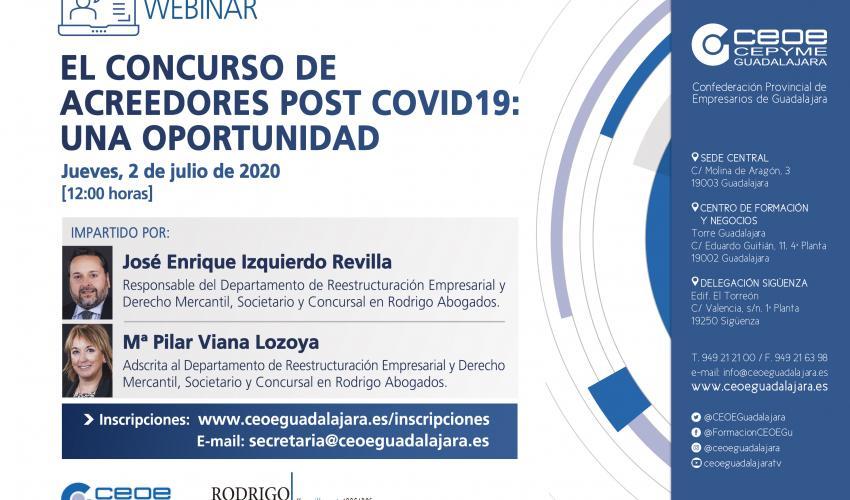 Webinar - El Concurso de Acreedores Post Covid19. Una Oportunidad
