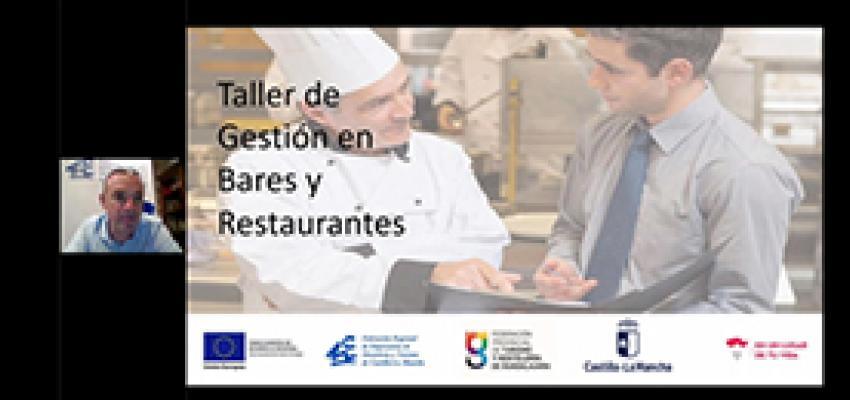 La gestión de bares y restaurantes centra un nuevo taller-webinar de la Federación provincial de Turismo y Hostelería de Guadalajara