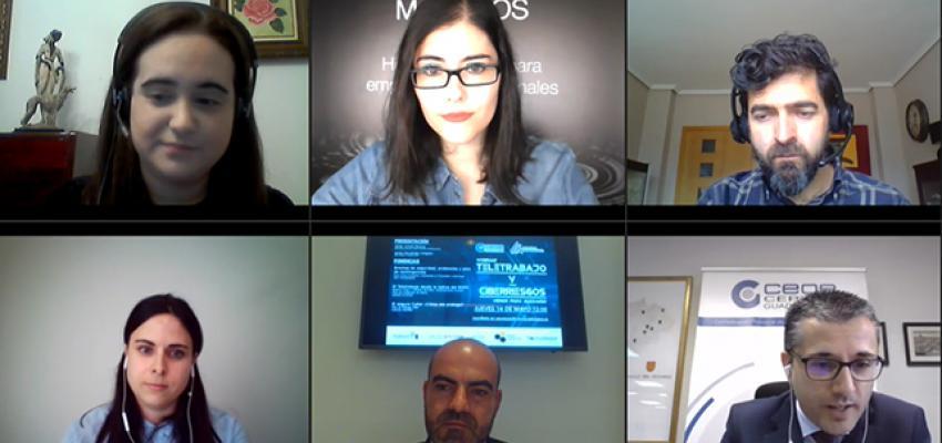 Medio centenar de empresas asisten al webinar sobre el teletrabajo y los ciberriesgos organizado por CEOE-CEPYME Guadalajara