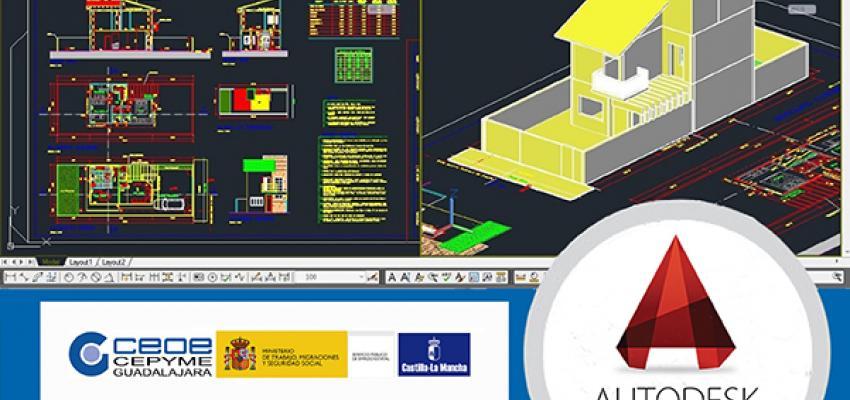 Últimas plazas para el curso de modelado 3D con Autocad de CEOE-CEPYME Guadalajara