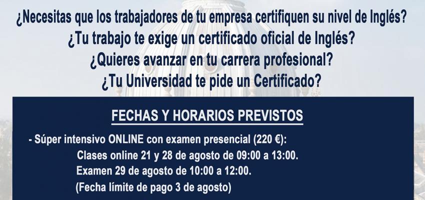 El departamento de Formación de CEOE-CEPYME Guadalajara lanza los nuevos cursos intensivos preparatorios para el Oxford Test of English