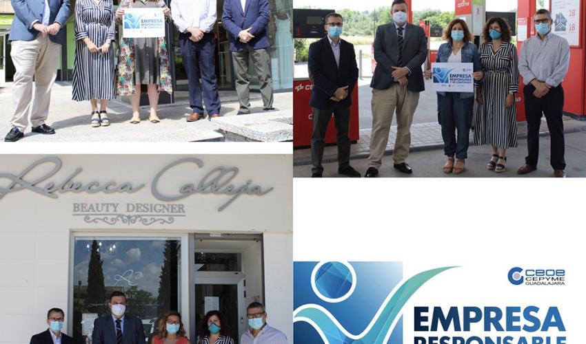 CEOE-CEPYME Guadalajara y el Ayuntamiento de la capital hacen entrega de los primeros sellos Empresa Responsable y de Confianza