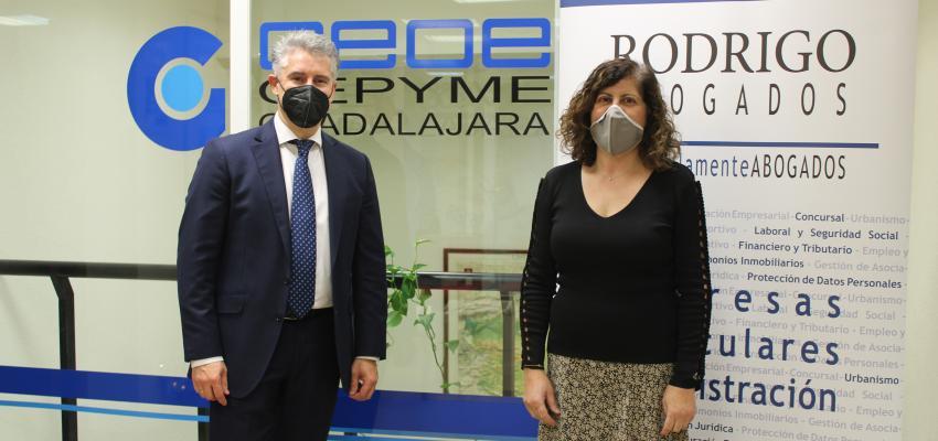 Renovado el convenio de colaboración entre CEOE-CEPYME Guadalajara y Rodrigo Abogados