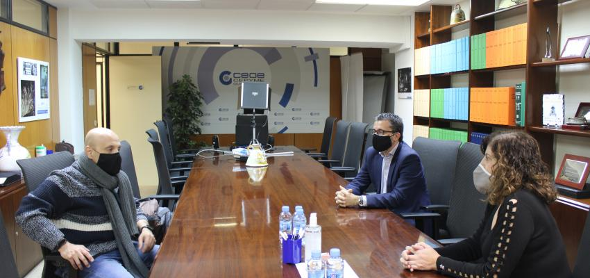 La presidenta de CEOE-CEPYME Guadalajara y el secretario general de UGT mantienen su primer encuentro