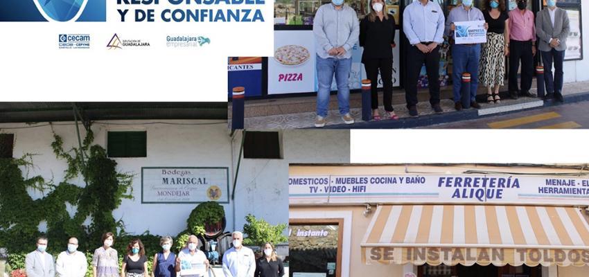 CEOE-CEPYME Guadalajara y la Diputación Provincial hacen entrega de los primeros sellos Empresa Responsable y de Confianza en Mondéjar