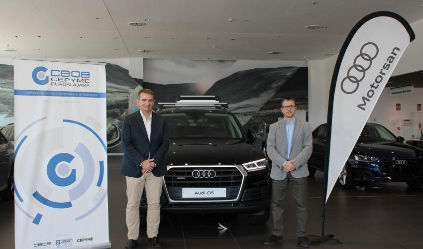 CEOE-CEPYME Guadalajara y Motorsan-Audi renuevan su convenio de colaboración