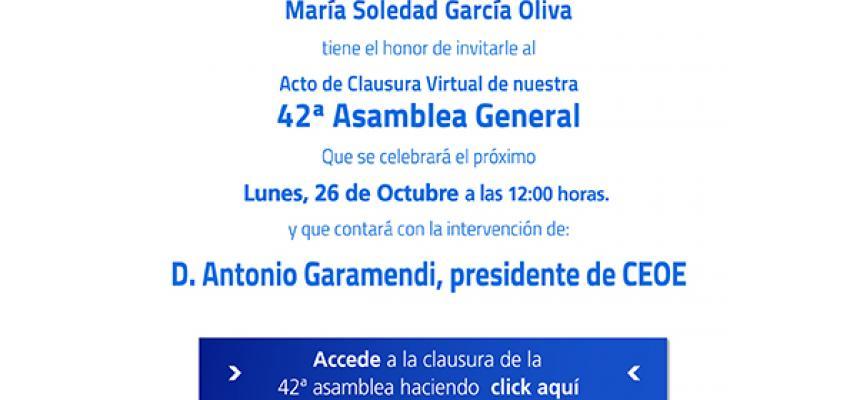 CEOE-CEPYME Guadalajara celebra su 42º Asamblea General, de manera virtual, el próximo lunes 26 de octubre