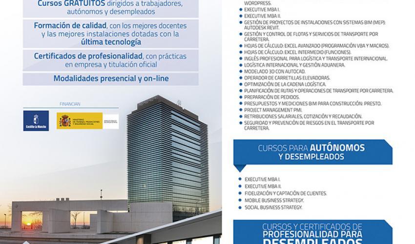 45 nuevos cursos conforman la programación gratuita de CEOE-CEPYME Guadalajara para 2020