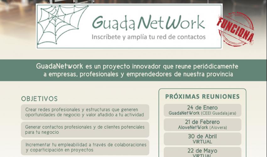 El próximo encuentro de GuadaNetWork virtual tendrá lugar el viernes 22 de mayo a las 10:00 horas