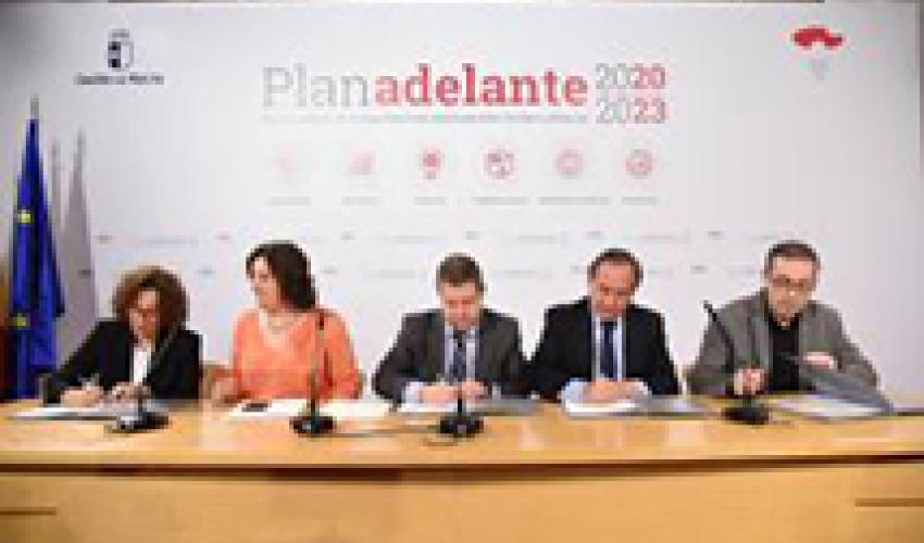 CECAM suscribe el Plan Adelante 2020-2023, con medidas de impulso a la actividad productiva de la región