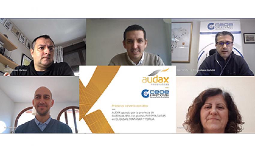 CEOE-CEPYME Guadalajara y Audax Renovables firman un convenio de colaboración