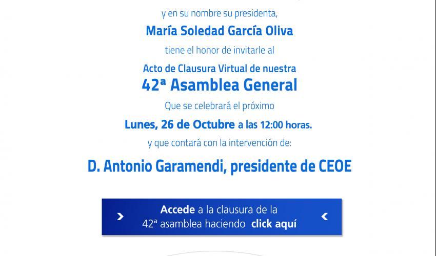 Acto de Clausura VIRTUAL de la 42ª Asamblea General de CEOE-CEPYME Guadalajara