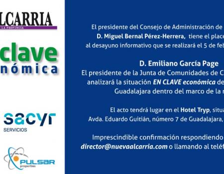 Desayuno Nueva Alcarria EN CLAVE económica - Presidente de la JCCM - CEOE Guadalajara -