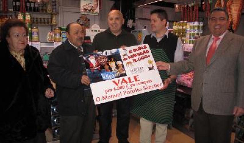 Manuel Portillo Sánchez se gasta los 6.000 euros del Doble de Navidad en 16 establecimientos