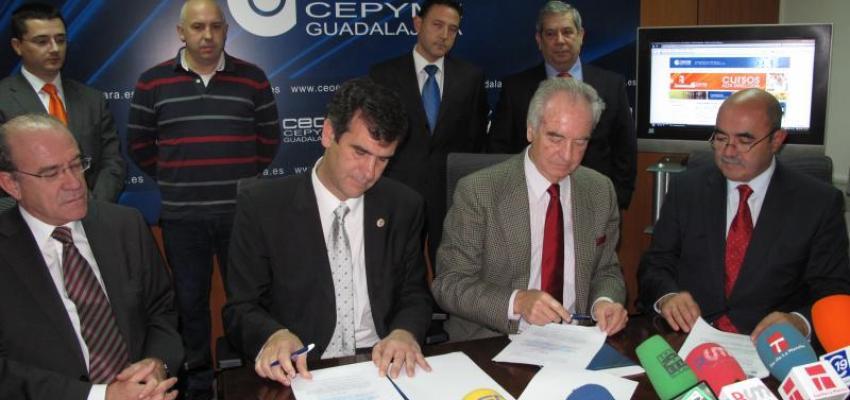 CEOE-CEPYME Guadalajara y el Ayuntamiento de la capital firman la  cesión de la parcela para la construcción del centro de formación