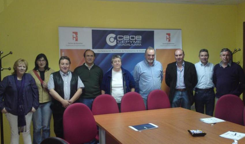 Empresarios seguntinos se reúnen con el candidato del PP a la alcaldía