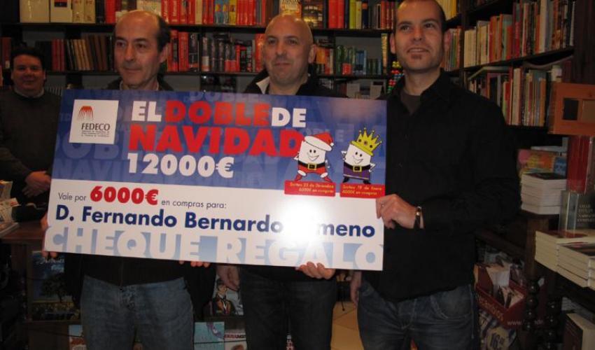 Fernando Bernado Gimeno se gasta los 6.000 euros del doble de navidad en 16 establecimientos