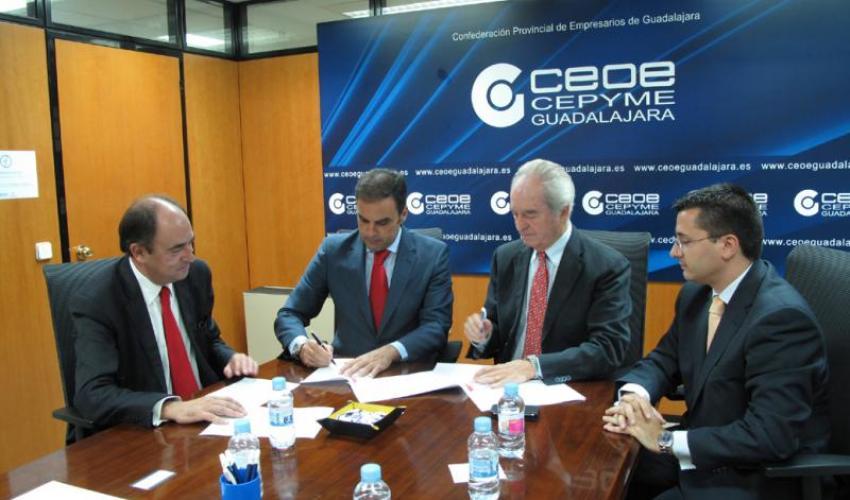 CEOE-CEPYME Guadalajara facilita el acceso de las empresas a la línea ICO directo a través del Banco Santander