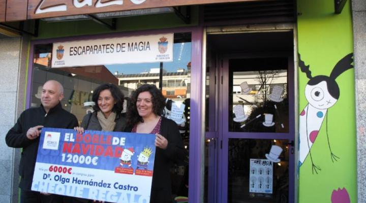Olga Hernández se gasta los 6.000 euros del doble de navidad en 17 establecimientos