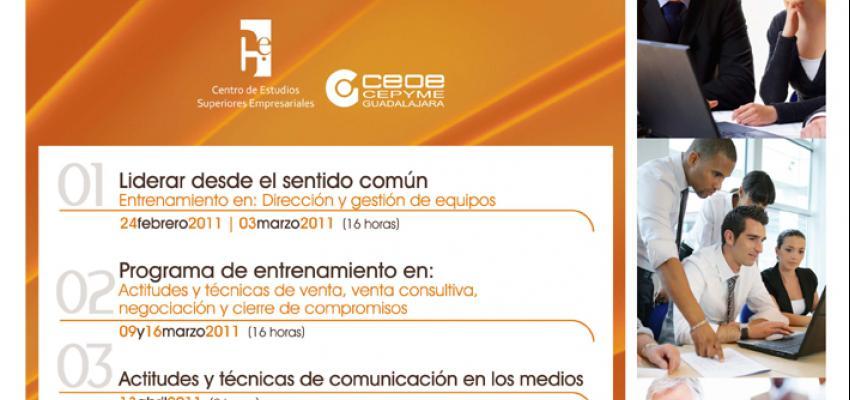 Nuevos cursos del formación del Centro de Estudios Superiores Empresariales de CEOE-CEPYME Guadalajara para 2011