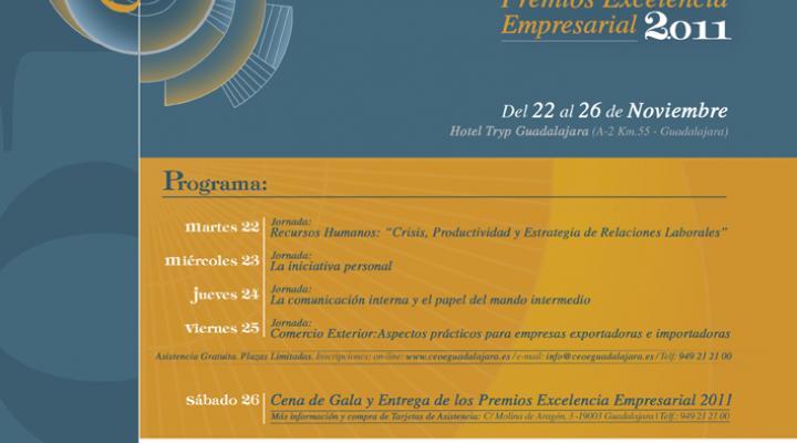 El martes 22 de noviembre comienza el 8º Congreso Empresarial de CEOE-CEPYME Guadalajara