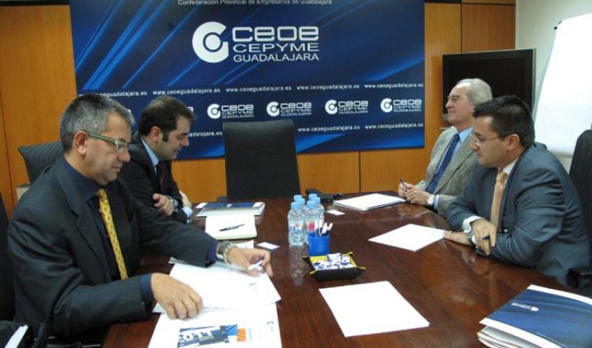 CEOE-CEPYME Guadalajara y el ayuntamiento de Yebes trabajarán juntos para el desarrollo empresarial del municipio