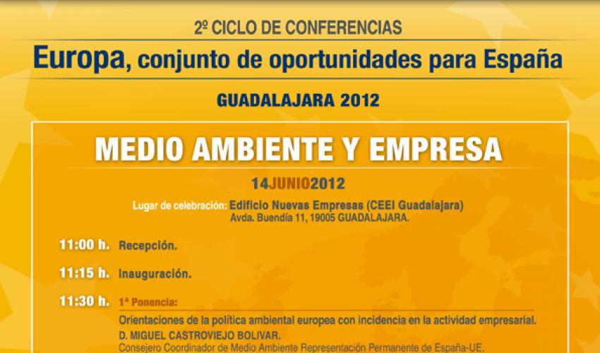 """CEOE-CEPYME Guadalajara organiza el segundo ciclo de conferencias """"Europa, conjunto de oportunidades para España"""""""