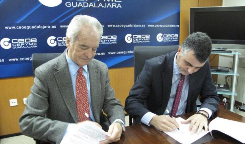 CEOE-CEPYME Guadalajara y FREMAP firman un convenio de colaboración