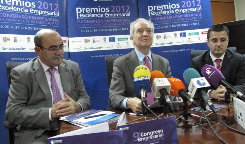 CEOE-CEPYME Guadalajara presenta su 9º Congreso Empresarial y los Premios Excelencia Empresarial 2012