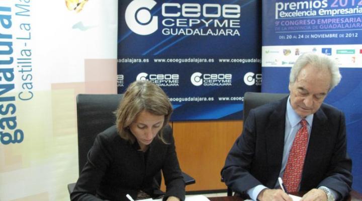 CEOE-CEPYME Guadalajara y Gas Natural Castilla-La Mancha firman un convenio de colaboración