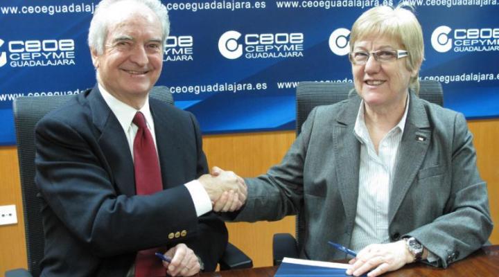 CEOE-CEPYME Guadalajara firma un convenio de colaboración con Cruz Roja