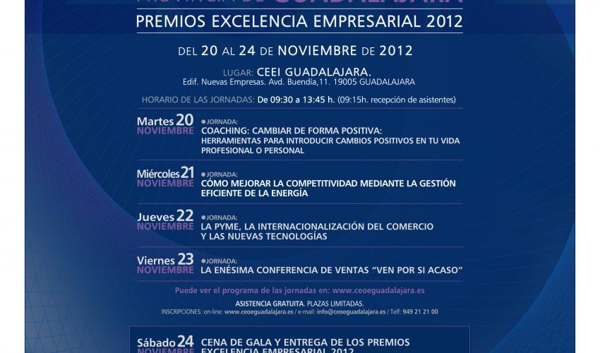 El martes 20 de noviembre comienza el 9º Congreso Empresarial de CEOE-CEPYME Guadalajara