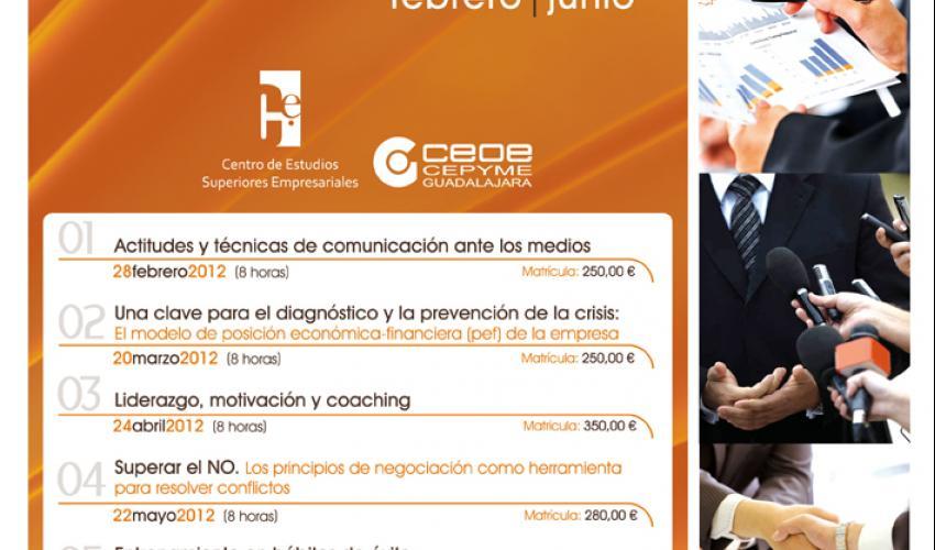El Centro de Estudios Superiores Empresariales de CEOE-CEPYME Guadalajara presenta su programación de cursos de alta dirección