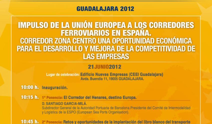 CEOE-CEPYME Guadalajara organiza una jornada para impulsar los corredores ferroviarios en España