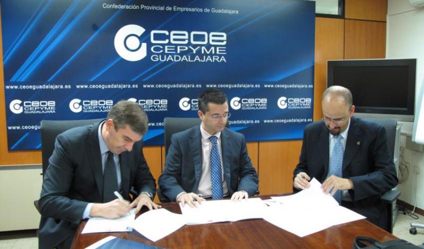 CEOE-CEPYME Guadalajara firma un convenio de colaboración con ÍDice y Binary
