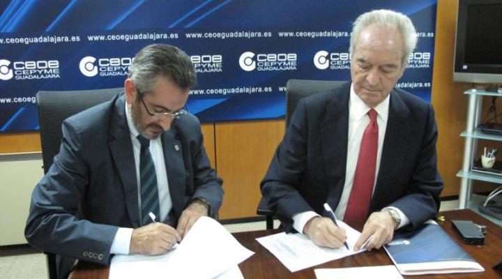 CEOE-CEPYME Guadalajara y la Sociedad de Prevención de Solimat, firman un convenio de colaboración en materia de PRL