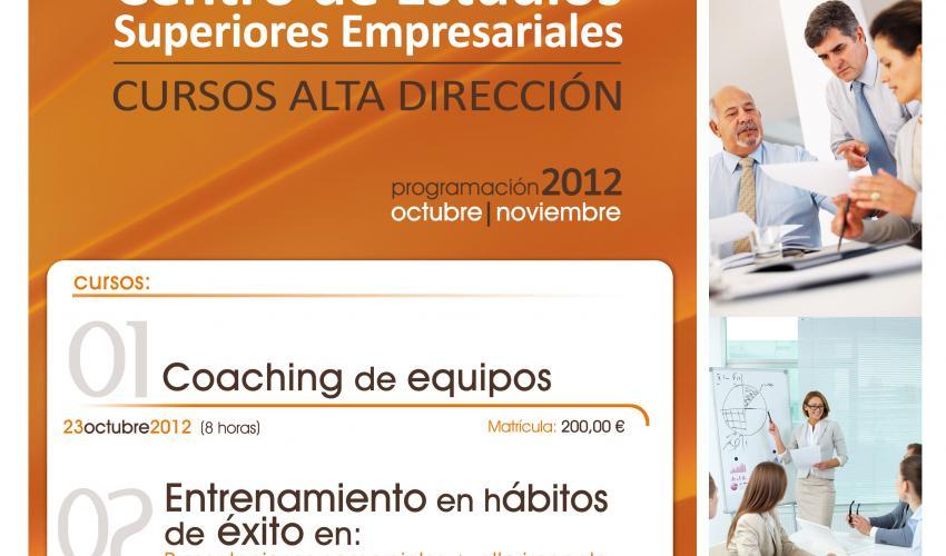 El curso de coaching de equipos del centro de estudios superiores empresariales de CEOE-CEPYME Guadalajara tendrá lugar el 23 de octubre
