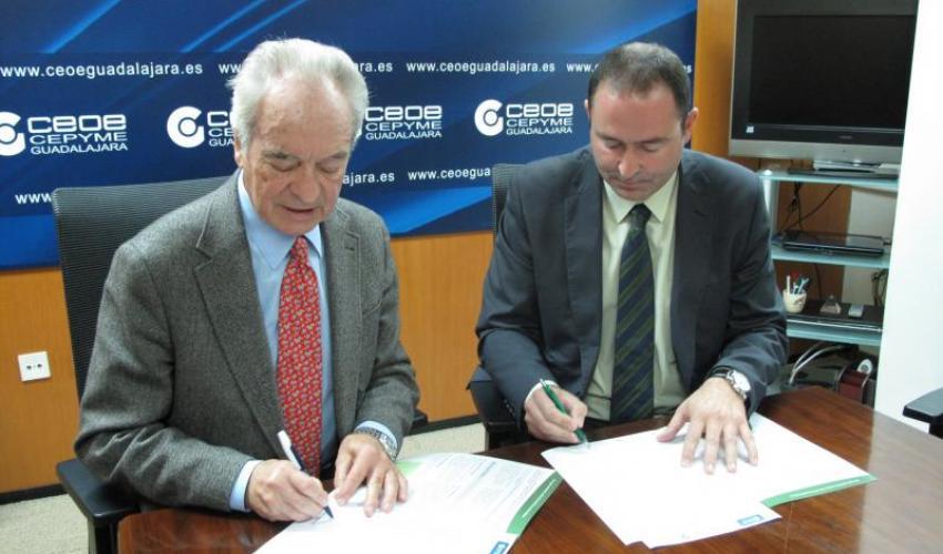 La seguridad y la salud laboral bases del Convenio de colaboración firmado ente CEOE-CEPYME Guadalajara y la Sociedad de Prevención de Fraternidad-Muprespa