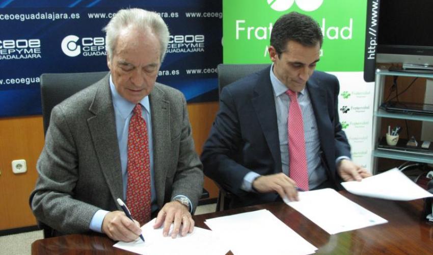 CEOE-CEPYME Guadalajara y la Mutua Fraternidad-Muprespa firman un convenio de colaboración
