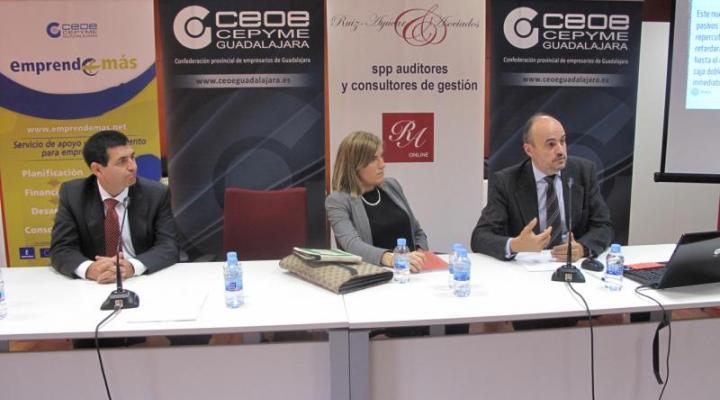 Gran éxito de convocatoria en la nueva jornada de fiscalidad para emprendedores organizada por CEOE-CEPYME Guadalajara